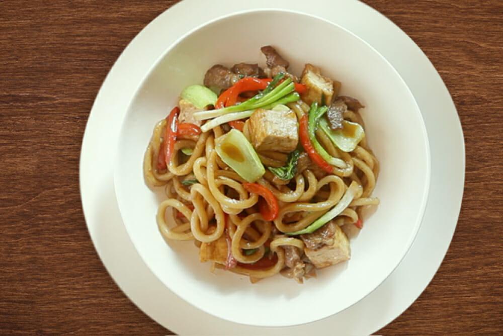 Pork & Tofu Noodle Stir Fry 1