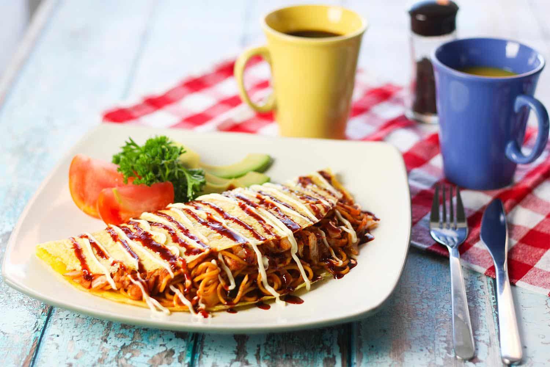 Kimchi Bacon Omu-Soba 1