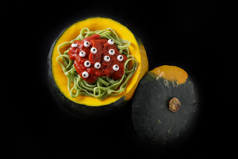 Spooky Kabocha Vegetable Noodle