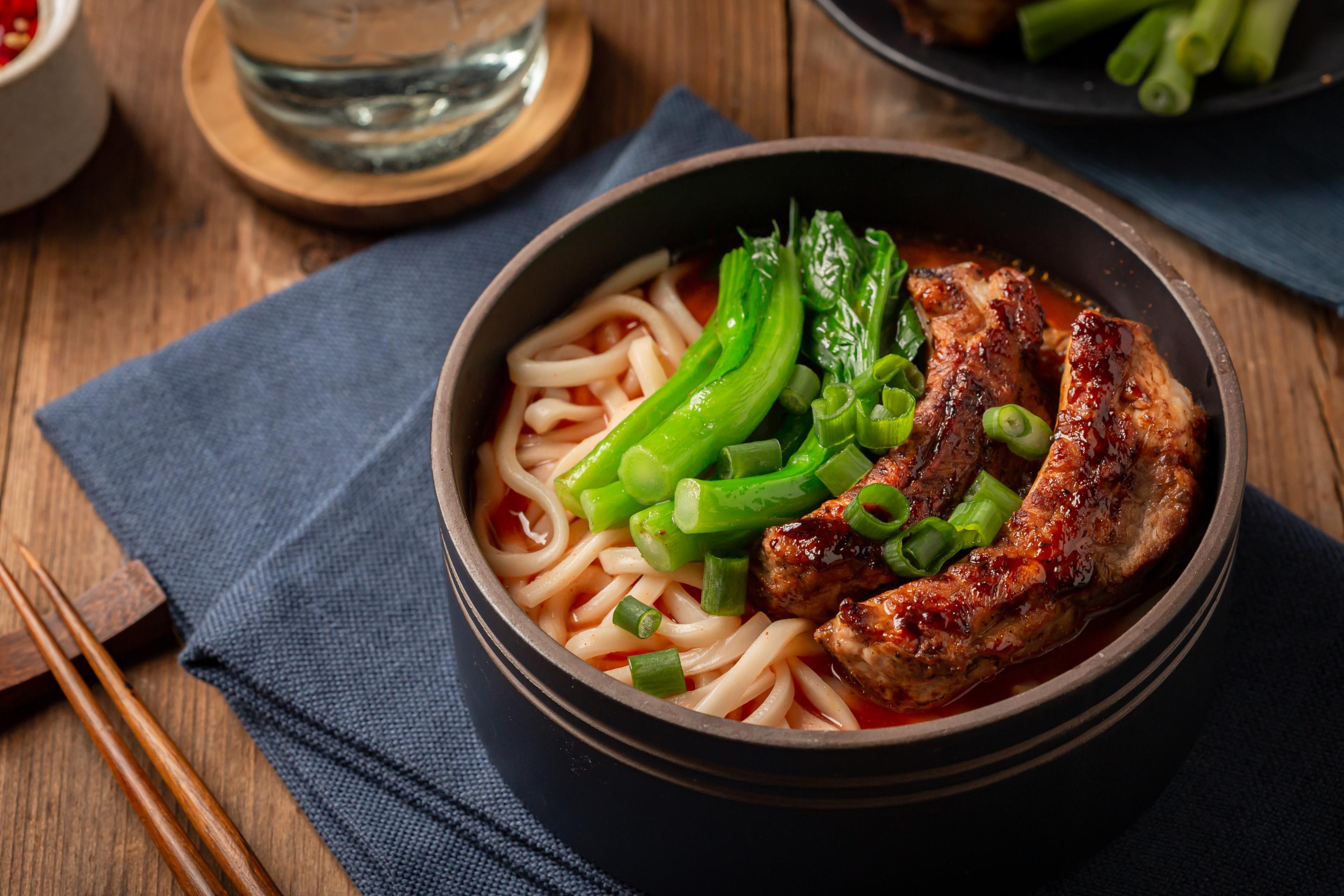 Short ribs Shanghai Noodles Thick