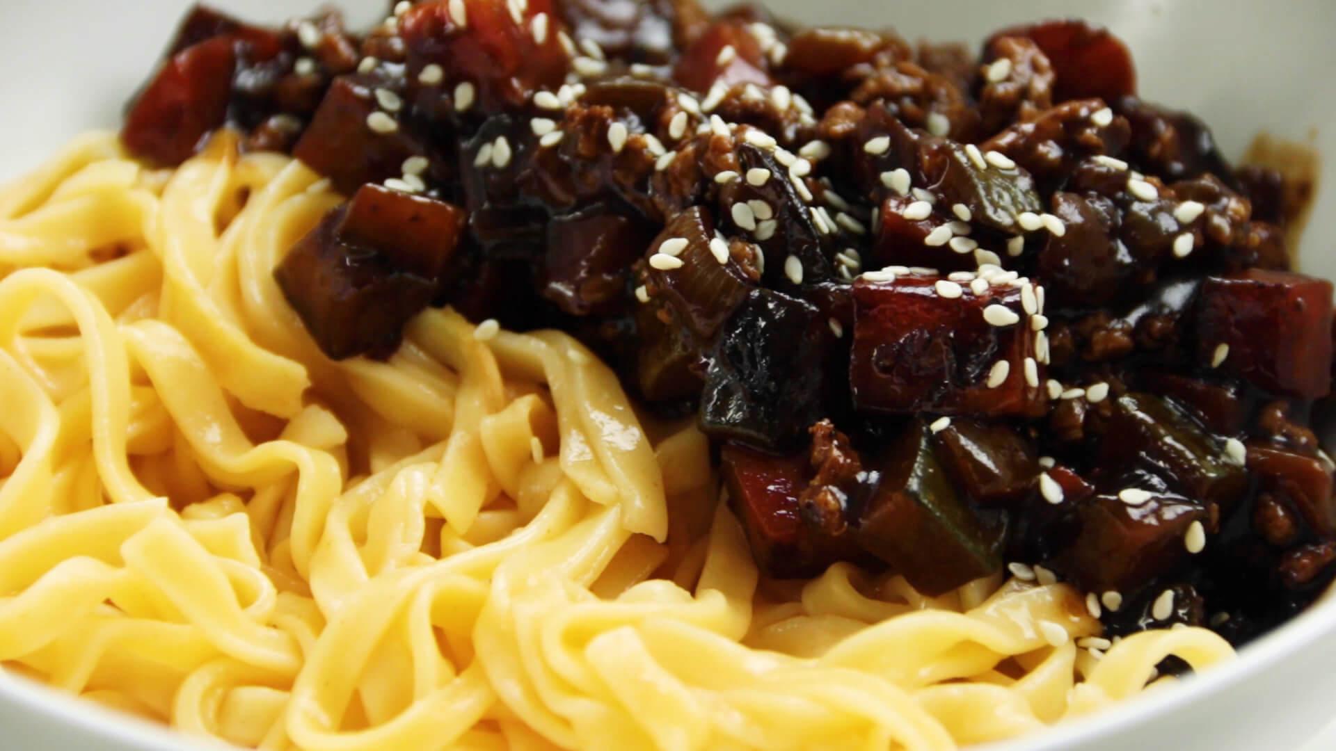 Wonton Noodles with Black Bean Sauce 1